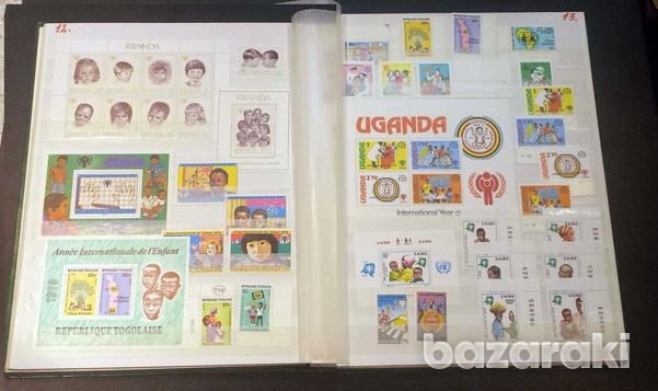 Year of the child mint stamps 35 min. sheets and 134 sets-5