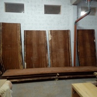 Huge iroko wood for dining tables
