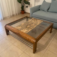 Hand made in canada wood and cork table