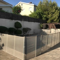 Pool safety fence with secure gate