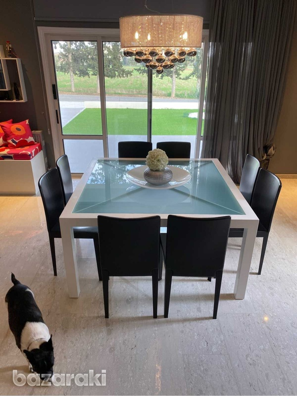 Square dining table with chairs-5
