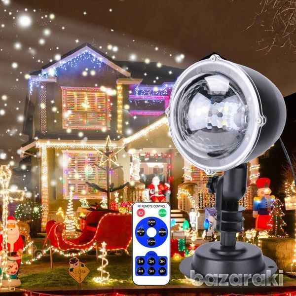 Snowflake led projector light moving laser lamp indoor outdoor garden-3