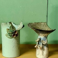 Hand made vases. more than 30 y old. set