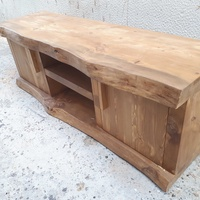 Solid natural wood tv stand