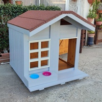 Unique dog house for any size of dog.