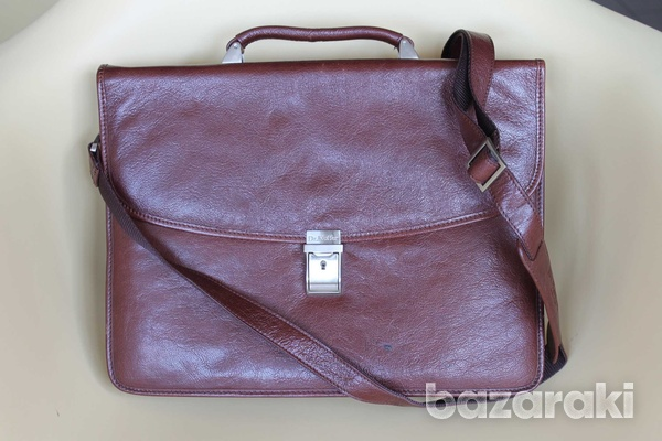 Leather dr.koffer flapover briefcase-1