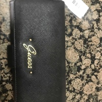 New and unused original guess wallet classic black canvas material