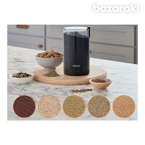 Krups f203 spice and coffee grinder with stainless steel blades-3