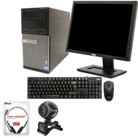 Dell i5 pc+webcam+headset