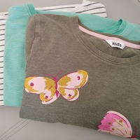 3 long sleeve girls cotton tops. age 9-11 years