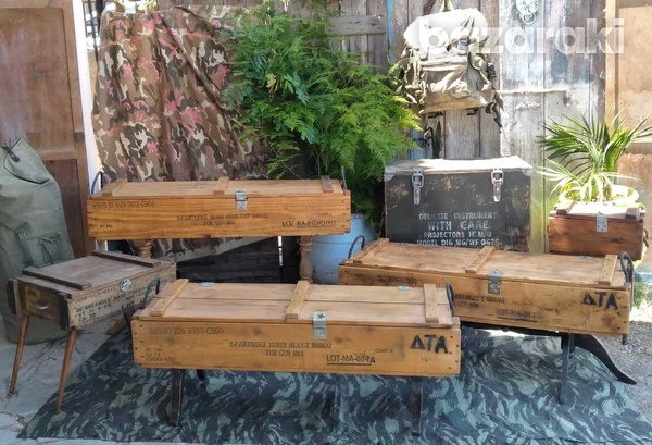 Vintage army large projector box on casters.-8