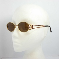 Magadesign vintage sunglasses italy 3105t rare gold w/ brown 49mm