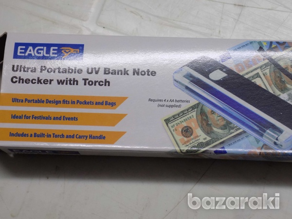 Eagle ultra portable uv bank money note checker detector with torch-2