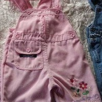 Set of baby girl dungarees 12-18 months