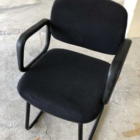 Office black visitor chair
