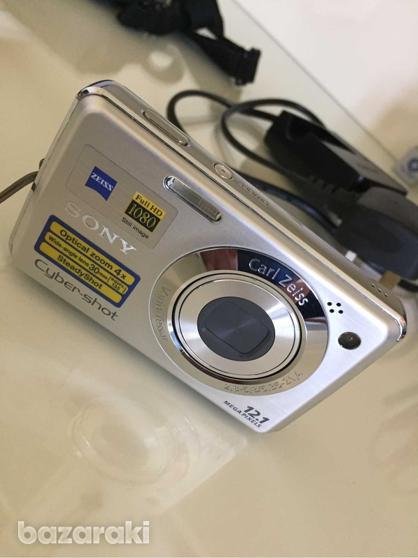 Sony cyber shot dsc w210 digital camera, case, usb cable-1