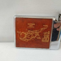 Antique cigarette case with built-in lighter7 chrome each