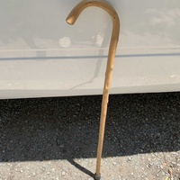 Strong wooden walking stick 90cm/35 inch