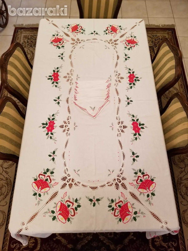 Christmas tablecloth, extra large-1