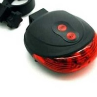 Bicycle rear led light, with five mode and laser led line lights. new