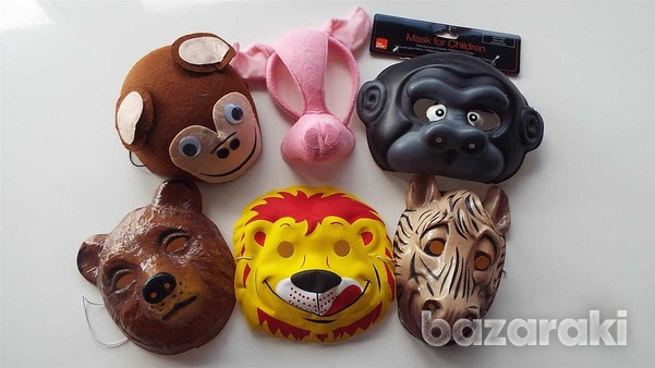 Carnival animal masks - set of six different animals.-2