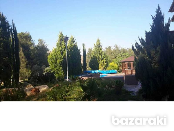 Detached house with big yard, green area, pool,furnished in pyrga-3