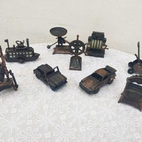 Set of vintageminiaturedie cast novelty pencil sharpeners