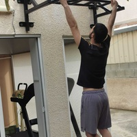 Multi grip wall mounted pull up - chin up bar