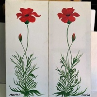 70x30cm 2 matching paintings for decor. each
