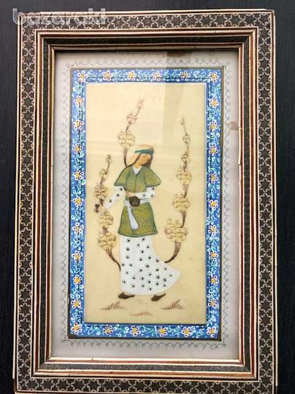 Antique middle east picture of a young lady-1