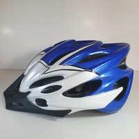 Bicycle blue/white helmet