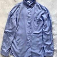 Tally weijl pastel blue button up shirt with embroidered collar