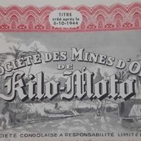 Share of the kilo-moto gold mines 1944 - look at the pictures