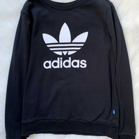 Adidas black sweatshirt with logo on the front