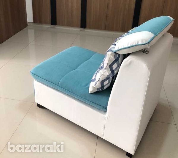 Italian single sofa in new condition with reclining pillow-7