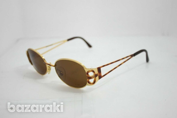 Magadesign vintage sunglasses italy 3105t rare gold w/ brown 49mm-3