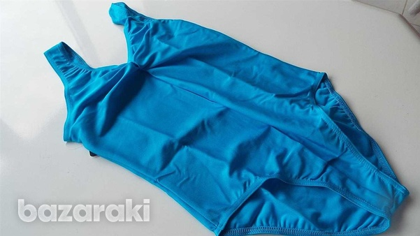Ruched front kingfisher blue lycra new leotard-2