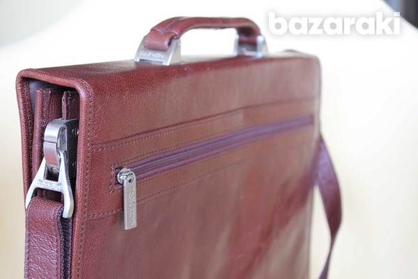 Leather dr.koffer flapover briefcase-6
