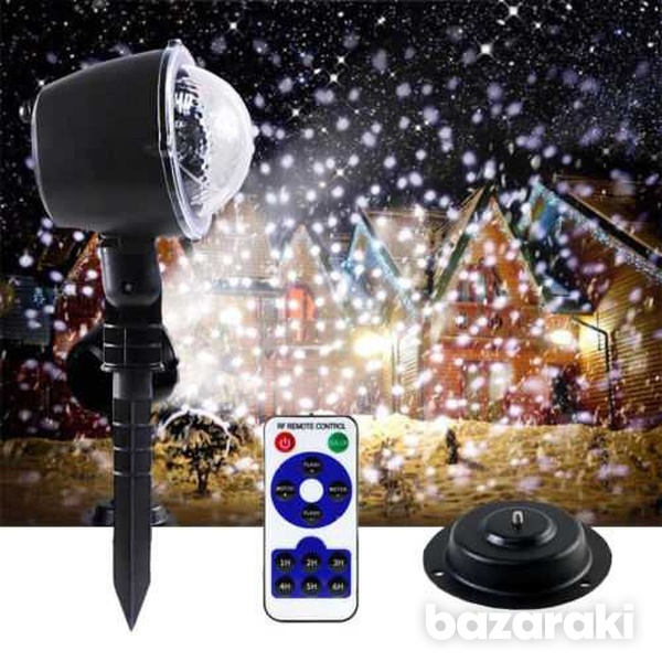Snowflake led projector light moving laser lamp indoor outdoor garden-1