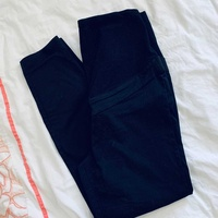 Perfect slim black maternity trousers