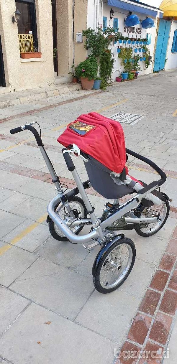 Bicycle and baby pram in one-4