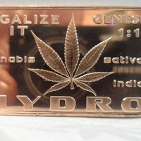 1 oz legalize it .999 fine copper bullion capone art bars