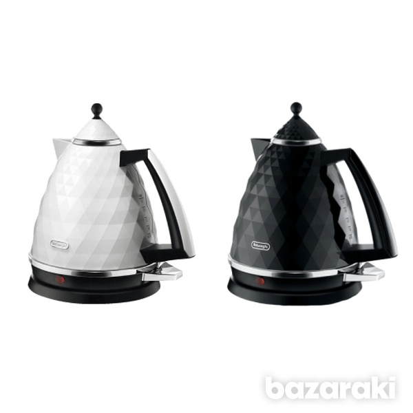 Delonghi kbj2001 brillante kettle in black and white color