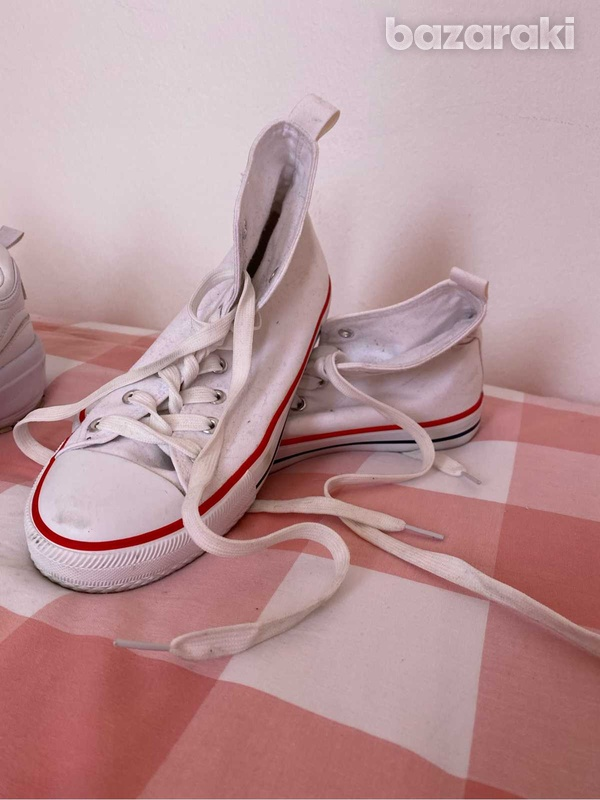 Fila shoes and white&red sneakers-2