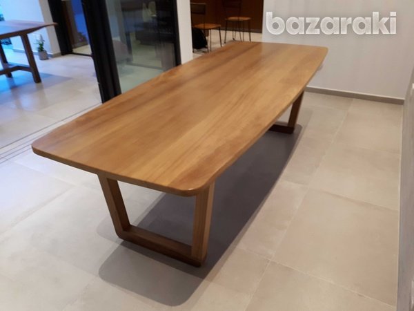 Solid iroko wood dining table-1
