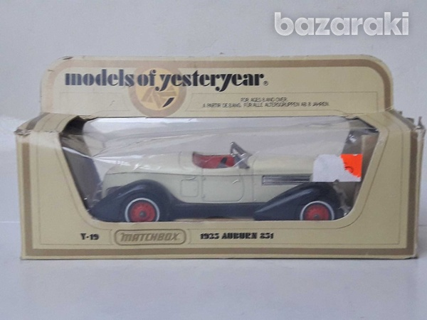 Collectible matchbox diecast car models of yesteryear y19 1935 auburn-2