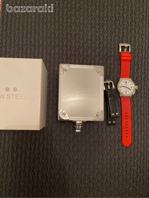 Original tw steel crystals watch with box and extra strap-1
