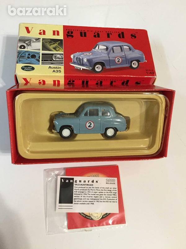 Austin a35 model by vangaurds 1/43 scale, new-2