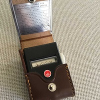 Walz vintage light meter with leather case