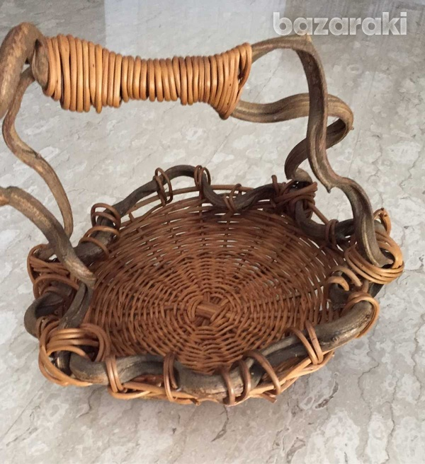 Hand made wooden basket 32cm-2